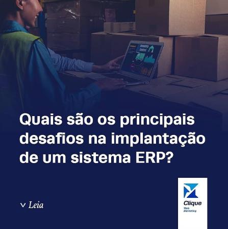 Você sabe quais são os principais desafios na implantação de um sistema ERP?